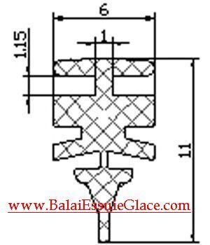Cotes caoutchouc essuie-glace Aerotwin AERO850